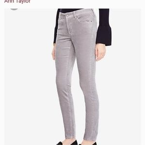 Ann Taylor The Skinny Modern Fit Velvet Pants